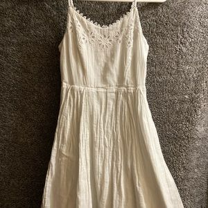 Short white summer dress